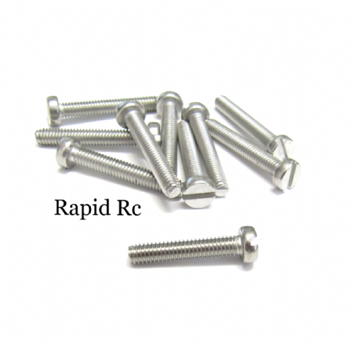 M4 x 20mm Stainless Steel Slotted Machine Screw